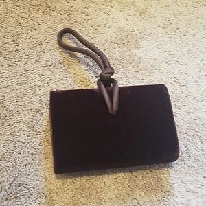 Chocolate Brown Velvet Clutch - Valerie Stevens